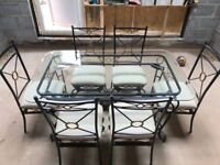 Glass & Metal Dining Room Table (chairs sold)