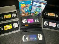 Selection of Disney vhs videos
