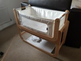 SnuzPod2 3 in 1 Bedside Crib - Natural Beech Wood