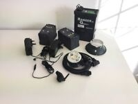 Elinchrom Ranger Quadra head and pack + extras