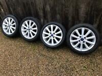 "16"" 4x108 Ford Fiesta Alloy Wheels Alloys With Tyres Titanium Zetec S Mk 6 7 8 D zetec"