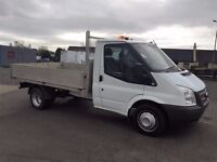 13 Ford Transit 350 MWB Alloy Drop Side Pick Up,