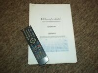 WHARFEDALE DVDR24F REMOTE CONTROL AND INSTRUCTIONS