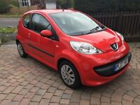 EXCELLENT PEUGOT 107 WITH LOW MILEAGE AND FULL SERVICE HISTORY. IDEAL FIRST CAR.