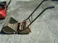 antique push lawnmower
