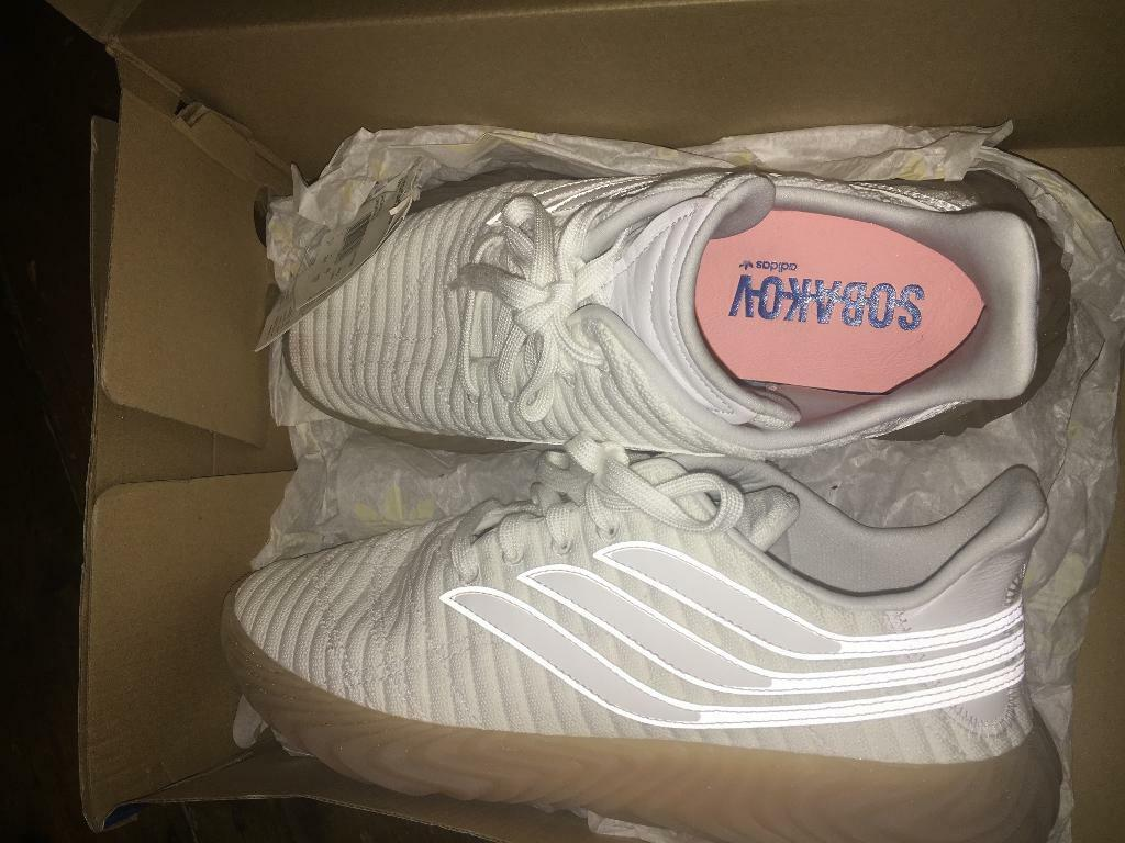 best loved 8ed0f b30a5 White Adidas Sobakov Trainers