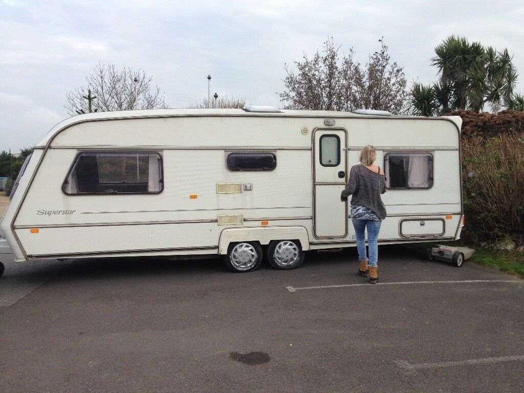 Large 6 Berth Twin Axle Caravan Abi Award Superstar 1997