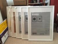 3x IKEA RIBBA 50x70 cm Frames - White