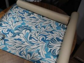 Vintage 60's/70's Green & Blue Italian Wallpaper