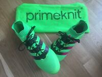 Adidas ACE 16.1 Primeknit Firm Ground football boots in Solar Green, Adult size UK 12 / 13