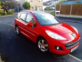 *Red Peugeot 207 sw Active Diesel Turbo 1.6 Lt Estate 2013 Excl condition no issues*