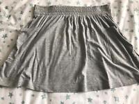 C grey new look skirt 14