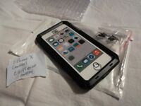 I-Phone 10 Lanhiem Heavy Duty Anti-Shock Case Metal Black New - Very Tough, Ideal for Sports