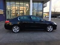 pco car peugeot 508 1.6 diesel automatic black, 153k mot n tax, hpi clear in excellant