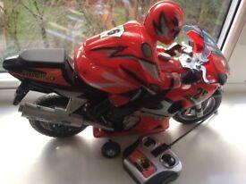 Radio Remote Control Fast Speed Motorbike Flashing Wheels Light & Music