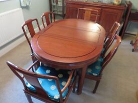 GENUINE CHINESE ROSEWOOD DINING SUITE - Reduced Price
