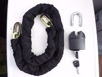 LARGE chain for Motorbike Scooter chain, padlock, keys, new