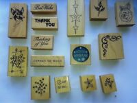 Lot of 26 Number - Wood Mounted Rubber Stamps - A lot have never been used