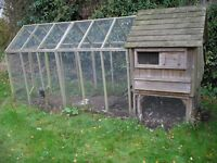 CHICKEN HOUSE AND PEN( FLYTE OF FANCY) WITH ELECTRIC FENCE