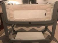 Grey snuzpod co sleeper cot