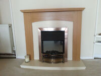 Modern fire surround, complete with fire