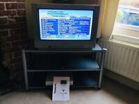 Retro Panasonic Qintrix TV and Stand