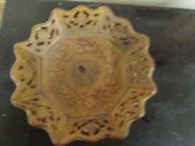Vintage 3d wooden carved Toronto Canada sovenir plate