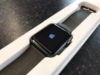 Apple Watch 42mm Sport Black Nylon Strap Boxed with Charger