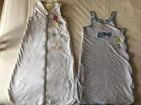 baby sleeping bags 0-6 months 2.5 tog and 6-18 months 2.5 tog