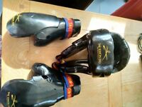 Taekwondo UK kids headguard and gloves in mesh bag