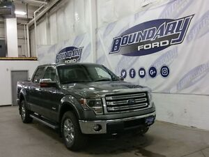2013 Ford F-150 Lariat Chrome W/ HID Headlamps, Leather, Sunroof