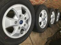 """Brand New 16"""" Genuine Ford Transit alloy wheels +NEW Continental tyres Custom Torneo CAN POST"""