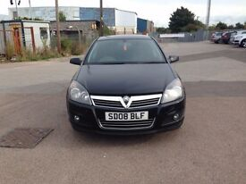 Vauxhall astra 2008 1.4sxi black alloys