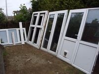 big bundle of useful upvc french and porch doors to clear