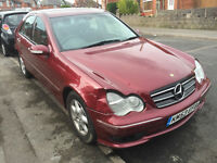 MERCEDES C180 BREAKING ALL PARTS