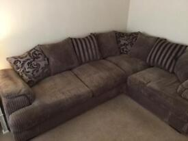 DFS corner sofabed and 3 seater sofa and ottoman footstool