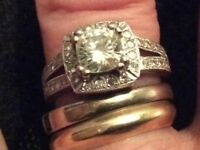 Moissanite 18 ct Charles and colvard hallmarked beautiful ring cost over £1200 new