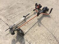 Long reach hedge trimmer and strimmer