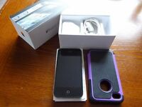 iphone 4 - original packing including box, charger and a cover bought separately to protect.