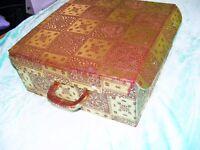 beautiful gold box style suitcase