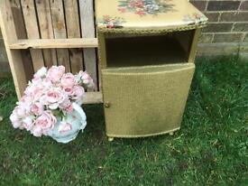 Lovely vintage Lloyd loom bedside cabinet vgc