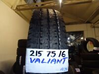 SET OF 4 BRAND NEW FORD TRANSIT TYRES 215 75 16 £45 EACH SUP & FITD OR £160 SET OF 4 TXT SIZE TO