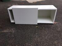 storage shelving (Ikea Besta frame) with sliding door