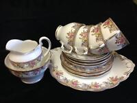 """Rose Border"" Fine Bone China Tea Set"