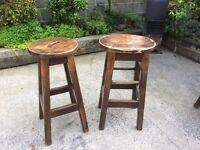 Solid wood high breakfast bar stool