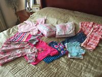 Baby girl 6-9 months 19 items including sleepsuits, dresses and tops