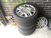 Ford Fiesta metal rims with good tiers