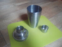 Cocktail shaker, Stainless steel, very good condition, like NEW