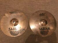 """Sabian AAX 14"""" Metal Hi Hats Cymbals - RRP £319"""