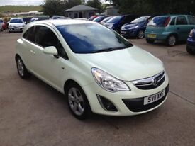11 PLATE VAUXHALL CORSA 1.2 SXI 3DR 40000MILES £3975